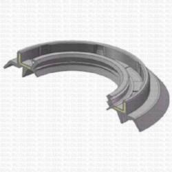 Сальник 40x62/78x8/14.8 TG459Y NBR 70-C-C WLK