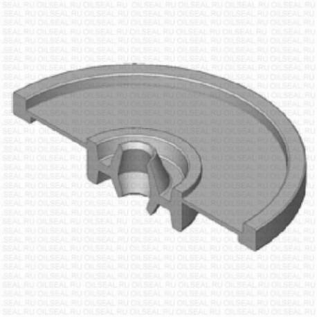Сальник 6x21.5/55x12 FLAT NBR 70-C WLK